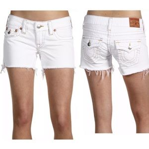True Religion Keira Cutoff Distressed Jean Shorts